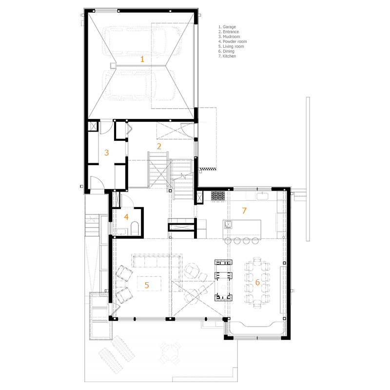 Monteyne Architecture | Projects - Wolseley Residence - Main Floor Plan