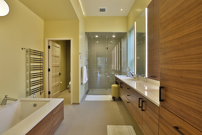 Monteyne Architecture | Projects - Linden Woods Residence - Master Bathroom