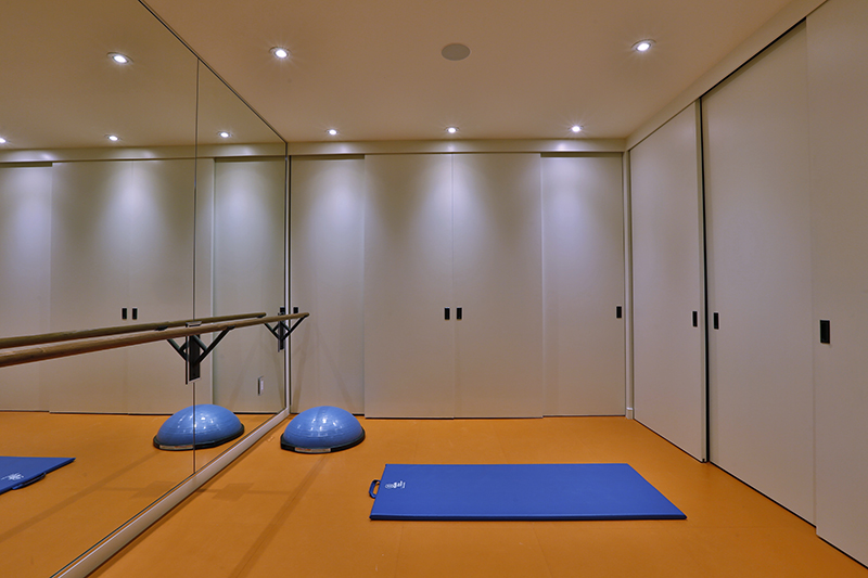 Monteyne Architecture | Projects - Linden Woods Residence - Yoga Room