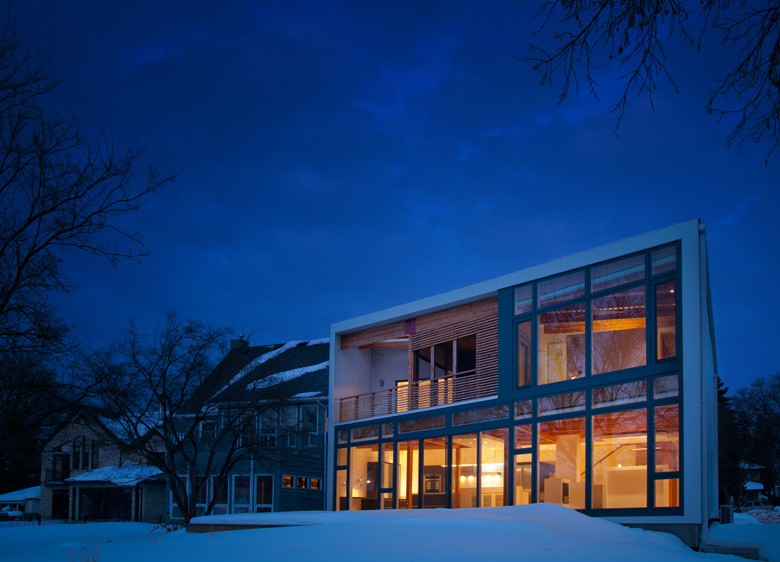 Monteyne Architecture   Residential - WY House - VIEW FROM RIVERBANK