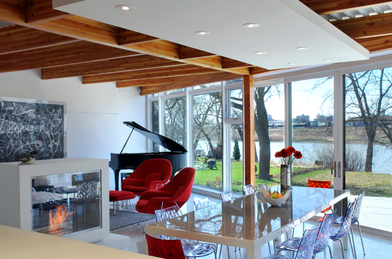 Monteyne Architecture   Residential - WY House - DINING AREA & LIVING ROOM