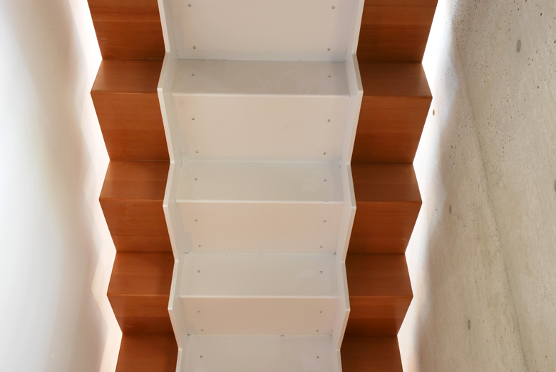 Monteyne Architecture   Residential - WY House - POWDER-COATED STEEL AND DOUGLAS FIR CUSTOM STAIR