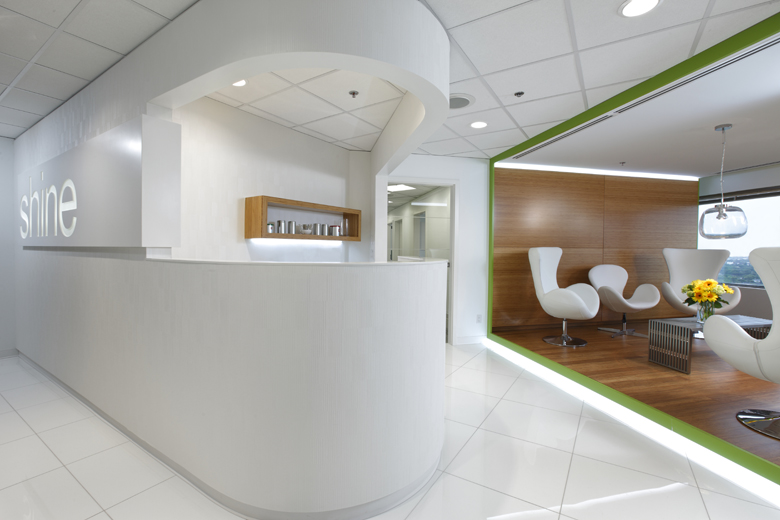 Monteyne Architecture | Projects - Shine Dental - HOST CENTRE AND SKY LOUNGE