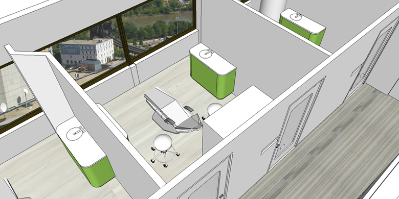 Monteyne Architecture | Projects - Shine Dental - RENDERING OF OPERATORY ROOMS