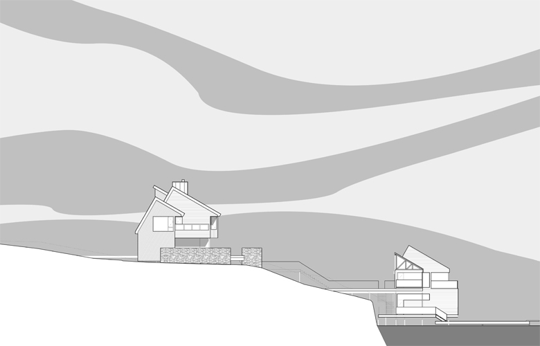 Monteyne Architecture | Residential - Falcon Lake Summer House - SITE SECTION