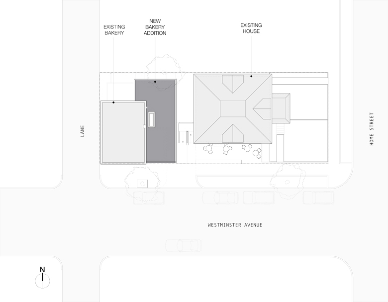 Monteyne Architecture | Projects - Tall Grass Prairie Bakery - SITE PLAN