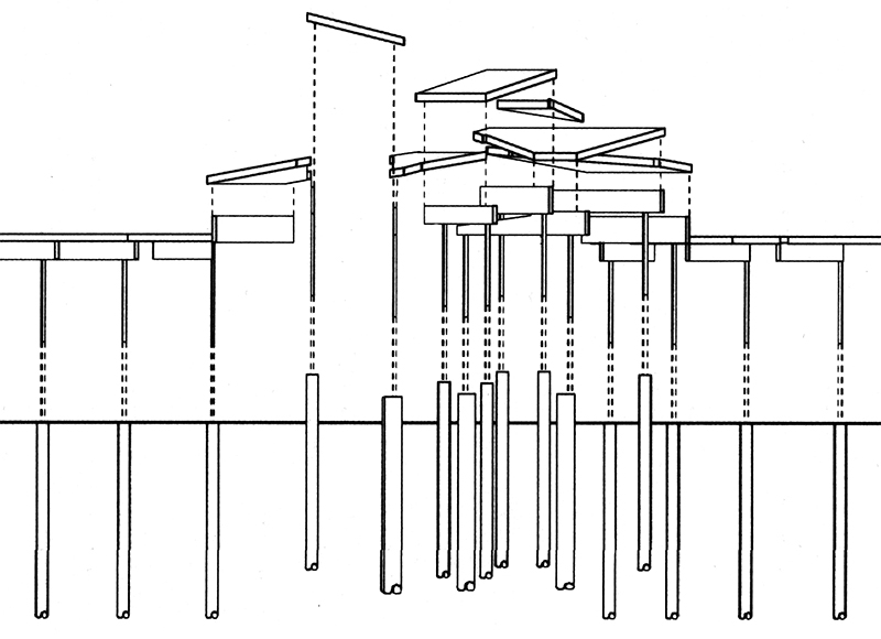 Monteyne Architecture | Cultural - Alloway Reception Centre - SCHEMATIC DIAGRAM OF ROOF STRUCTURE