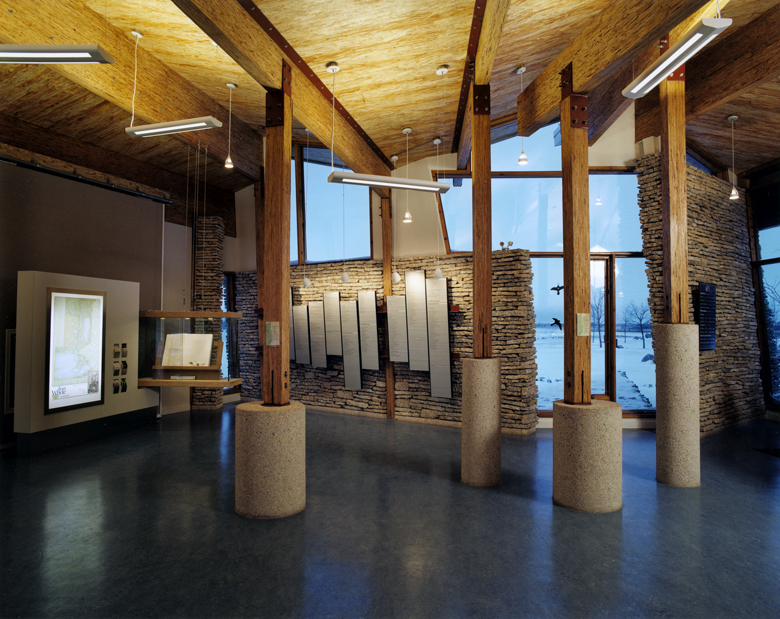 Monteyne Architecture | Cultural - Alloway Reception Centre - MAIN ENTRANCE HALL