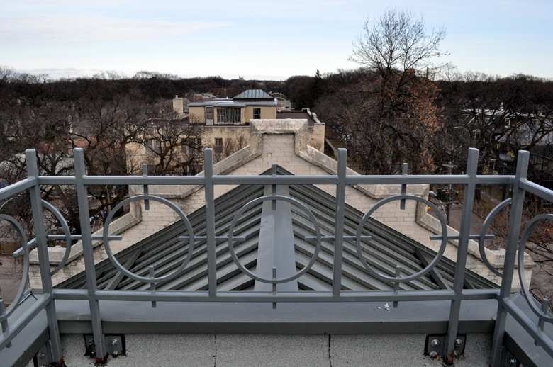 Monteyne Architecture   Projects - Laura Secord School - VIEW FROM NORTH TOWER