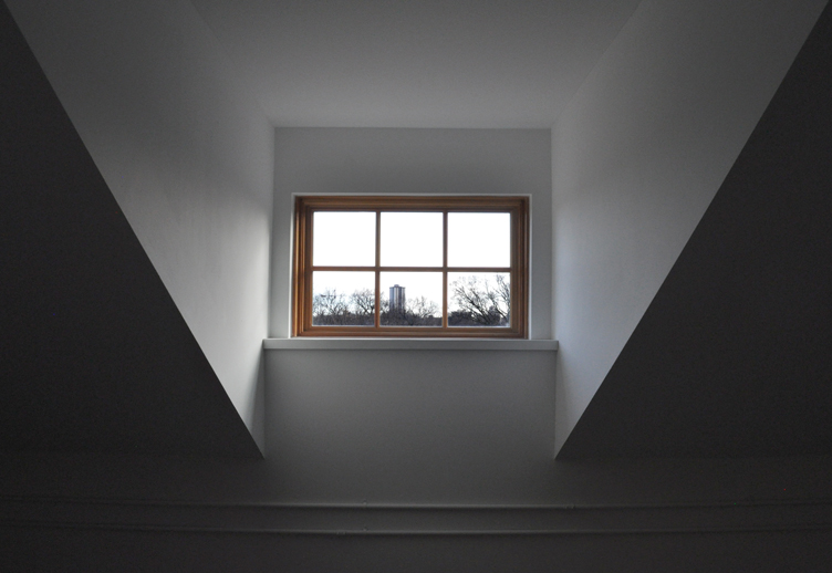 Monteyne Architecture   Projects - Laura Secord School - DORMER WINDOW FROM ATTIC