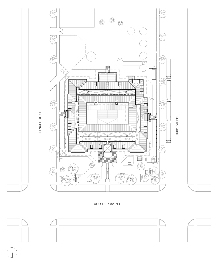 Monteyne Architecture | Projects - Laura Secord School - SITE PLAN