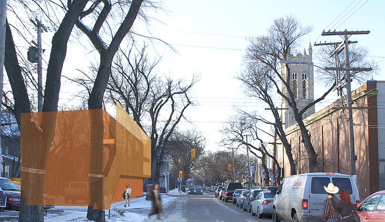 Monteyne Architecture   Projects - Granola Heights - LOOKING WEST ON WESTMINSTER AVENUE