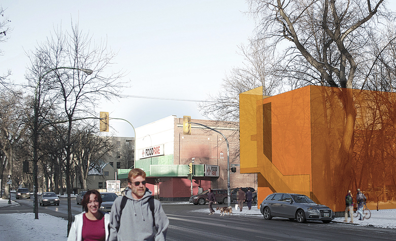 Monteyne Architecture   Projects - Granola Heights - VIEW FROM ACROSS MARYLAND STREET