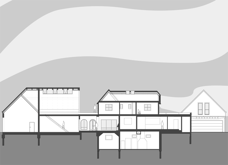 Monteyne Architecture | Projects - Wellington Redux - BUILDING SECTION