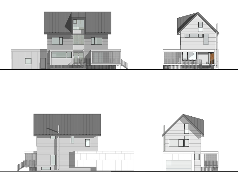 Monteyne Architecture | Projects - CS Residence - BUILDING ELEVATIONS