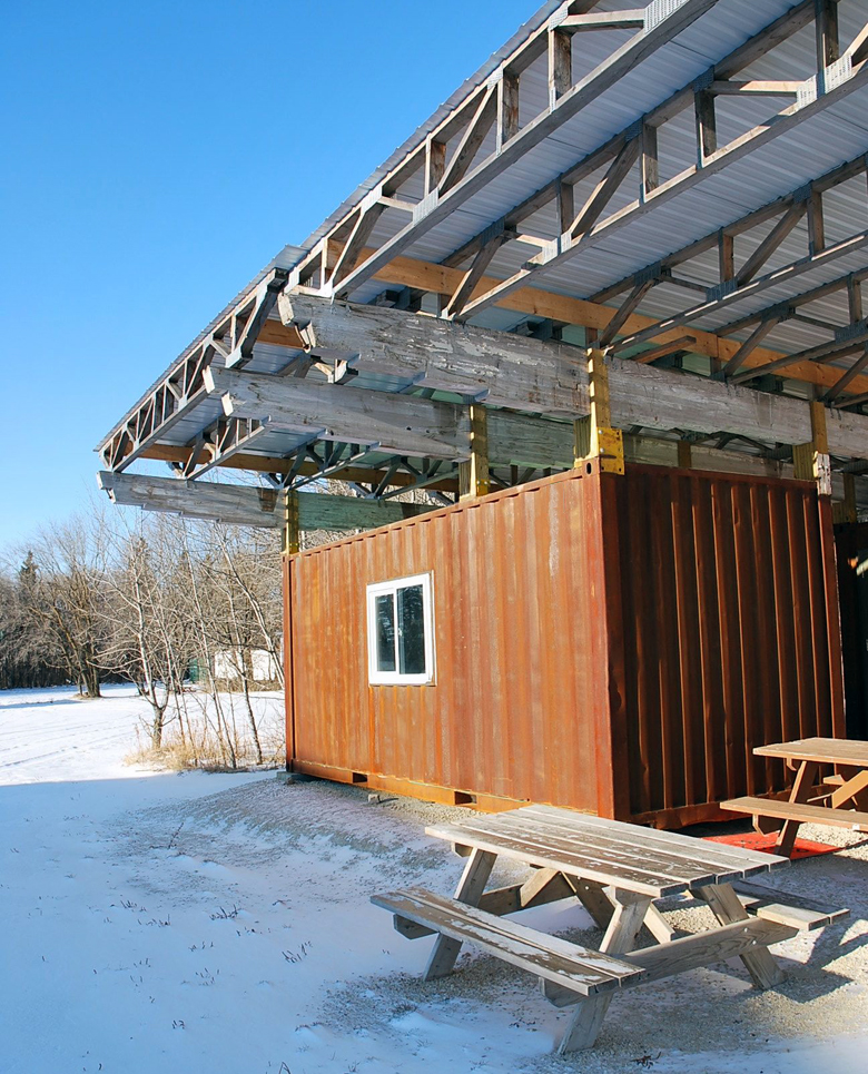 Monteyne Architecture | Projects - Winnipeg Folk Festival Kitchen Facility - SITE OFFICE