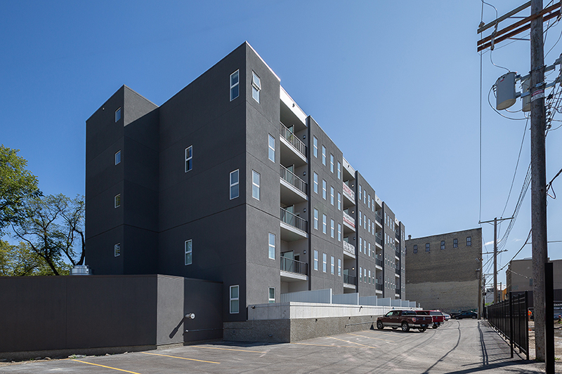 Monteyne Architecture | Projects - 316 Ross Ave. - REAR FACADE