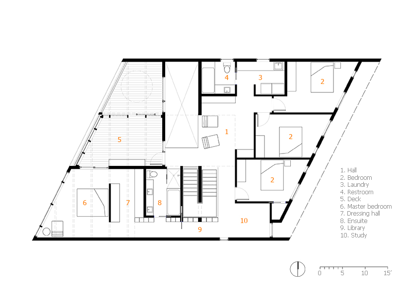 Monteyne Architecture | Residential - WY House - SECOND FLOOR PLAN