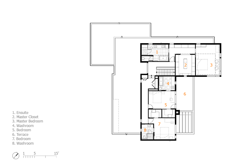Monteyne Architecture | Projects - Linden Woods Residence - Second Level