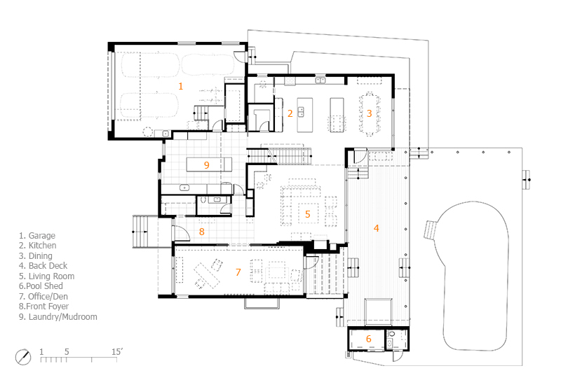 Monteyne Architecture | Projects - Linden Woods Residence - Main Level