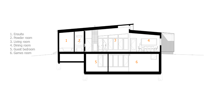 Monteyne Architecture | Residential - M Residence - Section