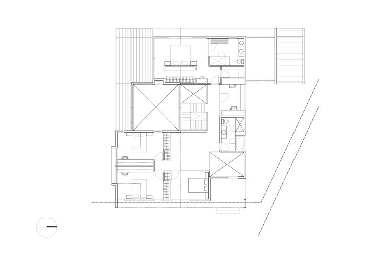 Monteyne Architecture   Projects - LW House - Second Level