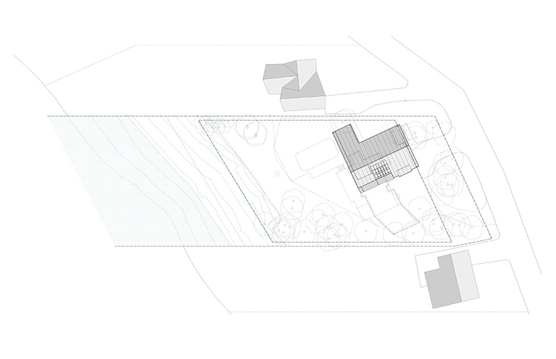 Monteyne Architecture   Projects - LW House - Site Plan