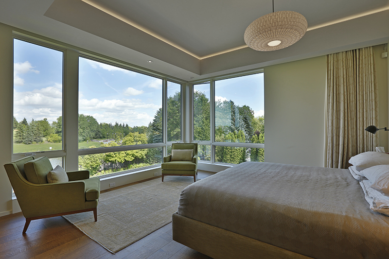 Monteyne Architecture | Projects - Linden Woods Residence - View from master bedroom
