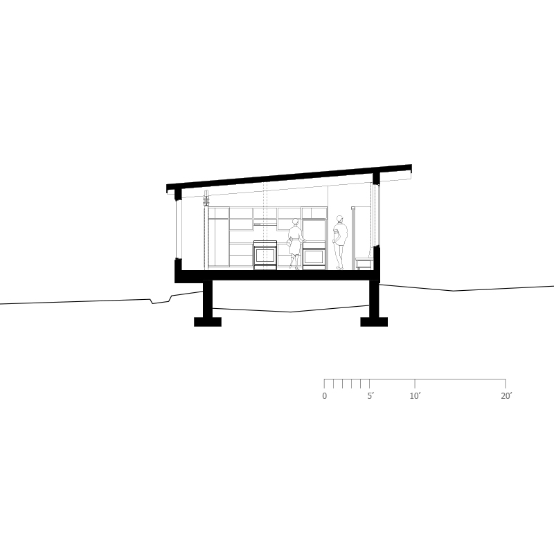 Monteyne Architecture   Projects - Victoria Beach Cottage - Section