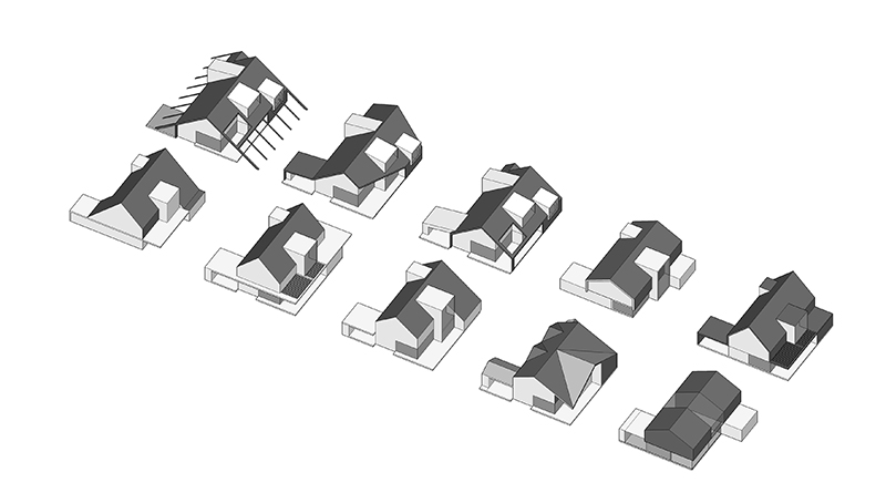 Monteyne Architecture   Projects - LW House - Schematic design options